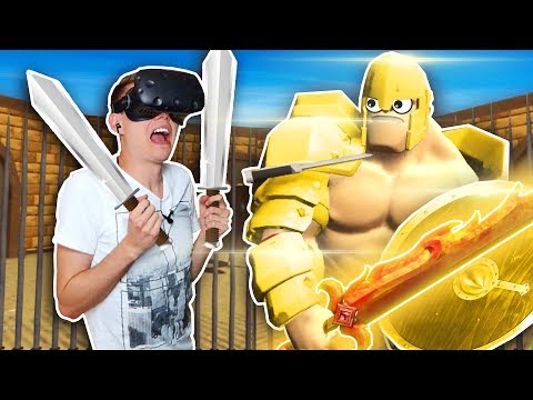 IMPOSSIBLE CHALLENGE AT VIRTUAL REALITY GLADIATORS! (GORN VR HTC Vive Funny Gameplay)