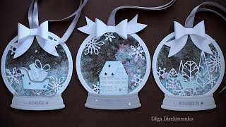 WHITE CHRISTMAS - DAY 21 - Snowglobe Shaker Tags