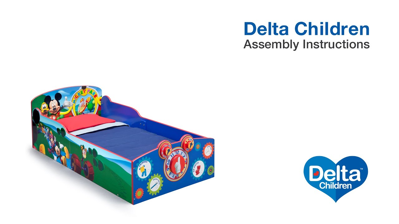 Delta Children Interactive Wood Toddler Bed Assembly Video Youtube