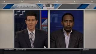 Stephen A. Smith Rant on NY Knicks Draft Pick   LIVE 6 25 15