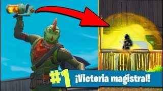 VICTORIA con NUEVA *BOMBA FÉTIDA* FORTNITE: Battle Royale