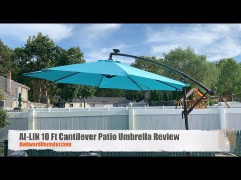 AI-LIN 10 Ft Cantilever Patio Umbrella Review