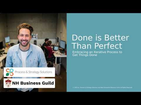 In fast moving times, done is better than perfect. Watch to learn how to do this AND enhance your customer experience...