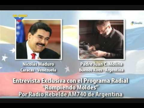 Nicolás Maduro entrevistado en Radio Rebelde de Argentina, 5 agosto 2017