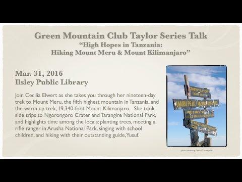 Green Mountain Club: Climbing Mt. Meru & Kilimanjaro