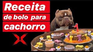 Receita de bolo para cachorro