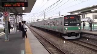 205系川越線川越行き川越線南古谷駅到着ハエ18編成[HD]