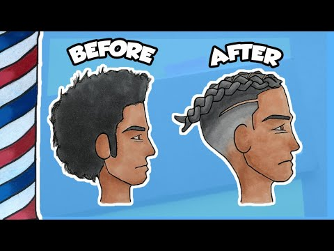 Taking My Cartoons To The Barbershop- Drawing Hairstyles!