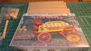 Allwood Beer Wagon Santa Fe Brewery 1977 Model Kit Open Box Review