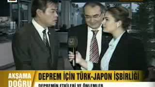 14.12.2012 ULKE TV Afternoon News Uskudar TV Yoshinori Moriwaki Earthquake Seminar Live Interview