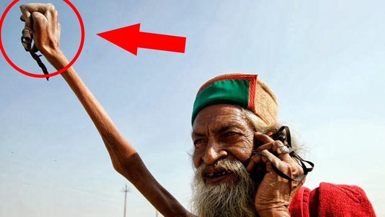 Dieser Mann hält seit über 45 Jahren den Arm hoch. Die