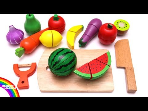 Thumbnail: Learn Colors with Cutting Fruit and Vegetables Playset Pretend Play Food Toys for Kids and Children
