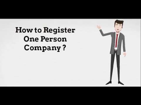 how to register one person company youtube