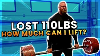 How much can I deadlift after losing 110lbs!?