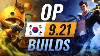 11 NEW Korean Builds You MUST TRY in Patch 9.21 - League of Legends Season 9