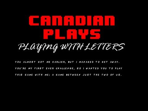 Canadian Plays - Playing With Letters