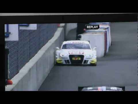 DTM Audi A5 Crash into a wall