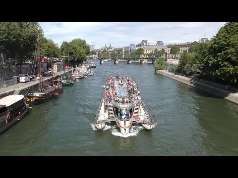 INCREDIBLE EUROPE ..MOST PICTURESQUE PARIS CANAL CRUISE  4K