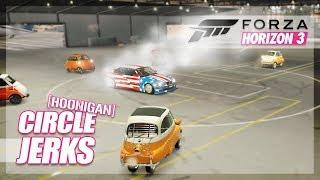 "Forza Horizon 3 - Hoonigan's ""Circle Jerks"" Played in Forza! (Mini Game)"