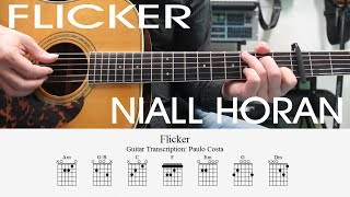 Niall Horan, flicker (Acoustic), How to play Easy, Chords, Guitar Lesson, Tutorial