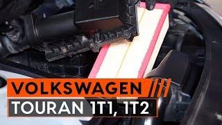 Kā nomainīt VW TOURAN 1T1, 1T2 Motora gaisa filtrs [PAMĀCĪBA]