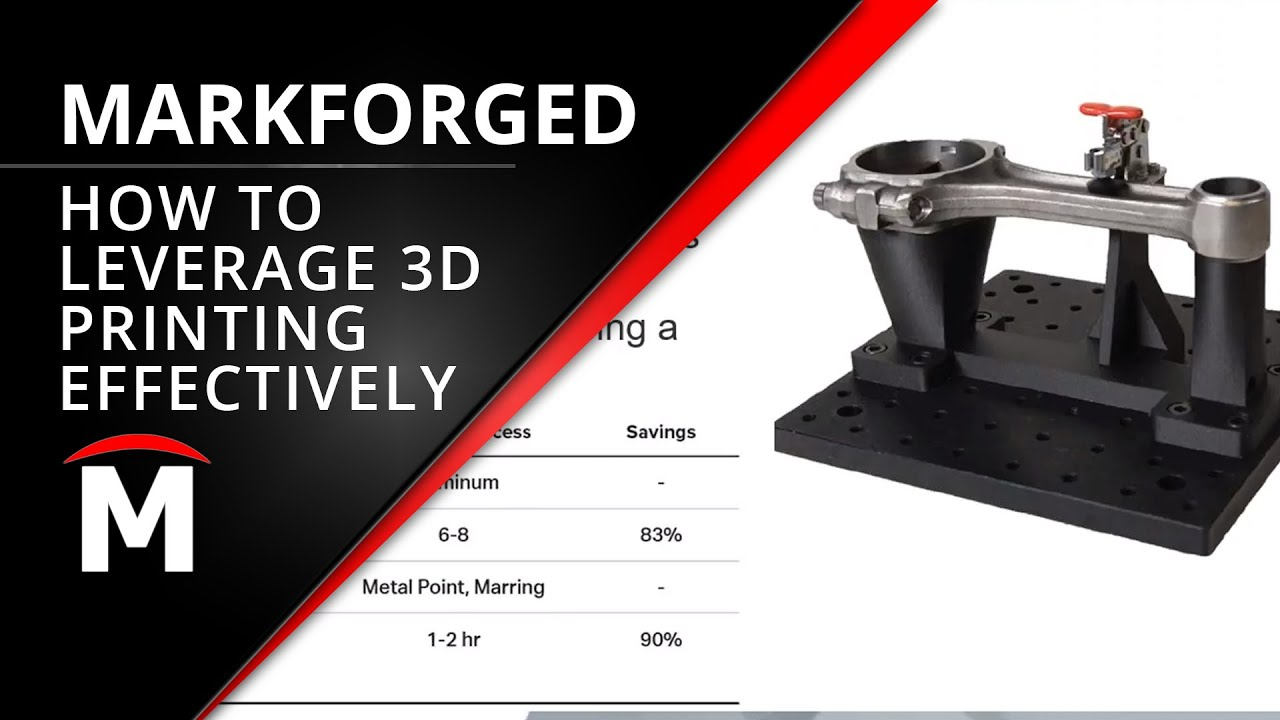 Leveraging Markforged 3D Printers As Effective and Efficient Tools