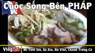 Ăn MÌ TƯƠI Hột Gà Giò Heo, Xá Xíu, Bò Viên & Chanh Trứng Cá - Cuộc Sống Bên PHÁP vlog #23