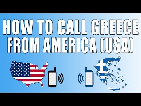 How To Call Greece From America (USA)
