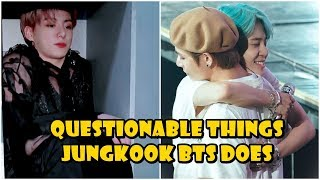 Questionable things Jungkook (정국) does