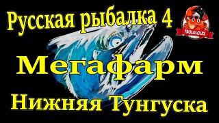 Русская рыбалка 4 Фарм Нижняя тунгусска Много серебра