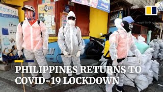 Philippines returns to Covid-19 lockdown as infections soar to record highs