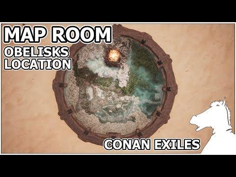 MAP ROOM All ten Obelisks map location | CONAN EXILES