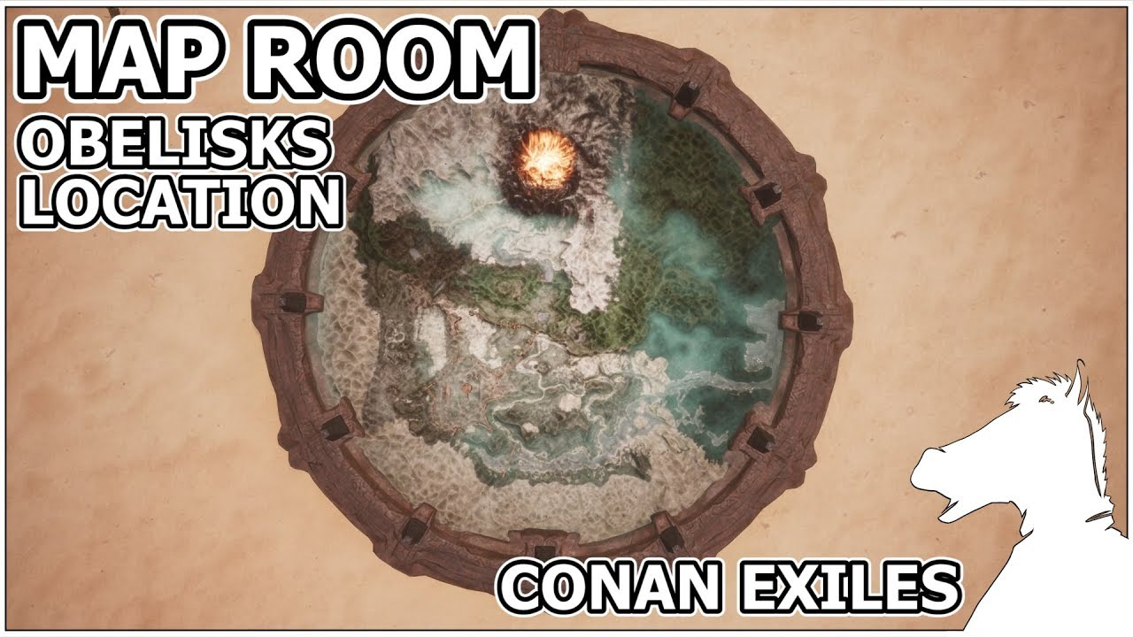 MAP ROOM All ten Obelisks map location | CONAN EXILES - YouTube