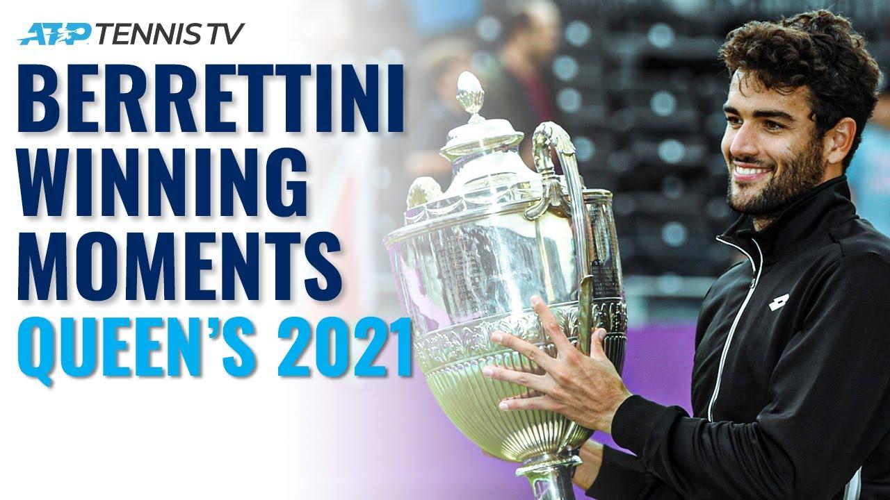 Matteo Berrettini Championship Point, Trophy Lift & Speech! | Queen's 2021