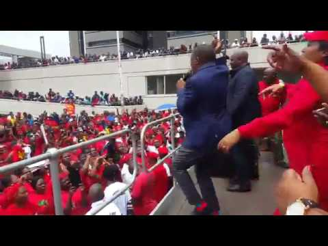 Malema singing agian -  kiss/shoot the boer