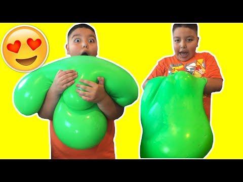 DIY GIANT SLIME STRESS BALL! Super Soft & Squishy!