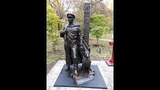Открытие памятного знака Пограничникам . Скульптор Мельников