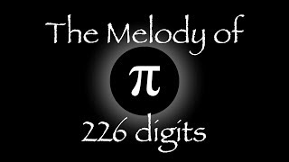 The Melody of Pi - 226 digits - chromatic π base 12 waltz - by Jim Zamerski