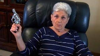 Pistol-packing grandma thwarts armed intruder
