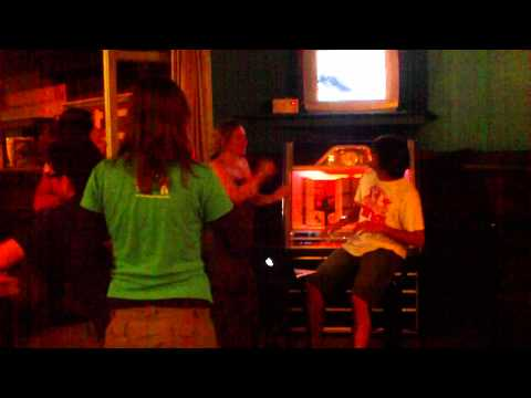 Attempt at karaoke in Dukes Backpackers, Greymouth New Zealand.