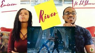 Eminem ft Ed Sheeran - River 0fficial Music Video!! ( Th&Ce' Reaction)