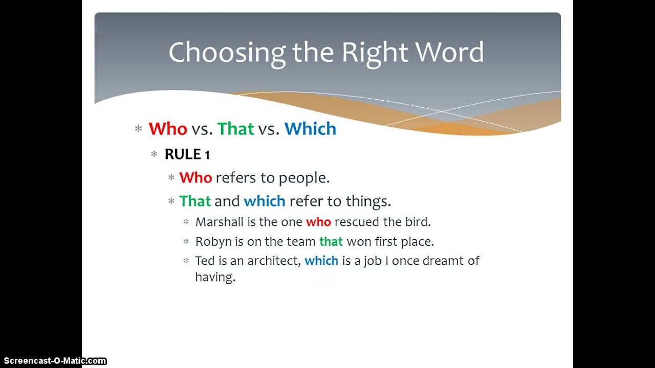 Choosing the Right Word?