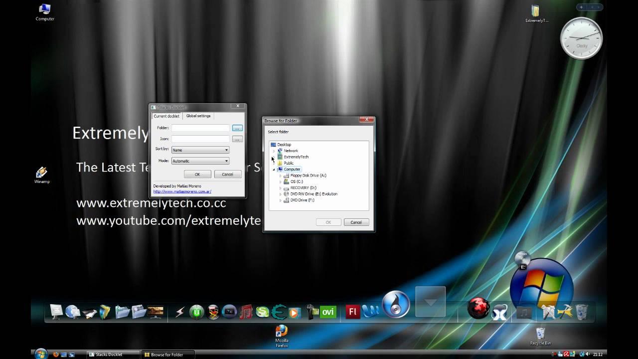 stack docklet para windows xp
