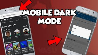 How to on dark mode in ROBLOX MOBILE!!