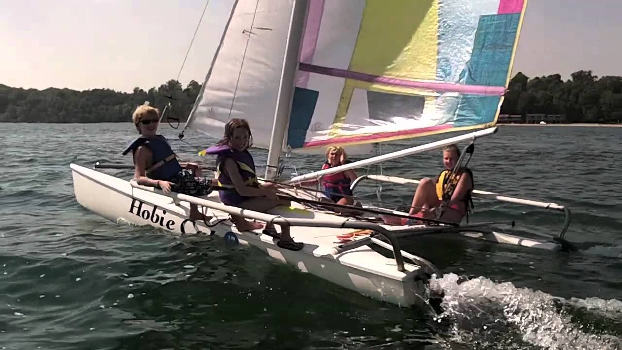 Ryerse Kids and a Hobie Cat - YouTube