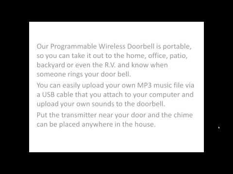 Boom Blasters Programmable Wireless Doorbells