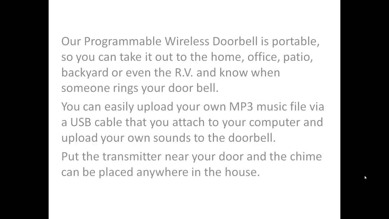 Programmable Musical Fight Song Wireless Doorbell