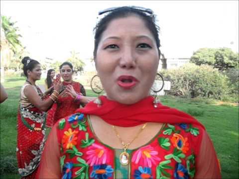 NEPALI WOMEN ARE CELEBRATING HINDU' FESTIVAL OF TEEJ IN KIKARHAMIDINA OF ISRAEL 2015