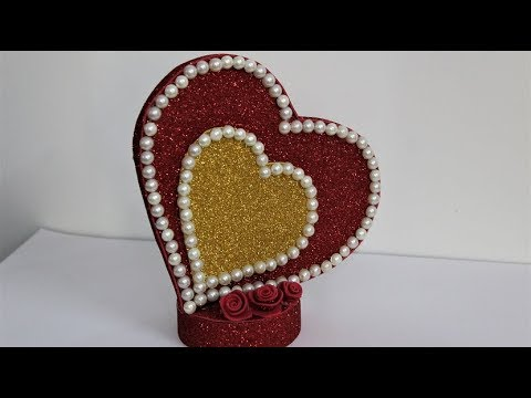 Heart Showpiece for VALENTINE'S day //DIY-Gifts Ideas 2019//Beautiful Heart showpiece