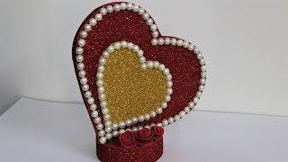 Heart Showpiece //DIY-Gifts Ideas 2018//Beautiful Heart showpiece